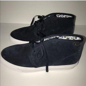 Tory Burch blue suede sneaker